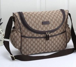 핫 판매 브랜드의 새로운 여자의 캔버스 호보 아기 기저귀 가방 디자이너 어깨 가방 브라운 블랙 핑크 화이트 아기 기저귀 가방 엄마 어머니 핸드백