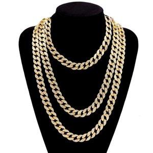 2020Popular Halskette Hip Hop Rap Accessoires Armband Trendy Herren-Diamant-Gold Kuba Hip Hop Halskette europäischen und amerikanischen Männer Strass