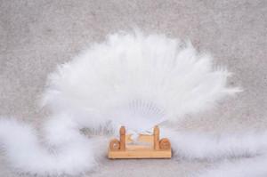 Fans Colorés Plumes De Mariage Showgirl Danse Pliant Fan De Plumes À La Main (Accessoires De Mariée