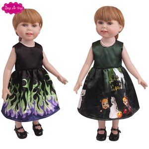 "18 ""American doll clothing personalized Christmas sleeveless dress factory direct sale"