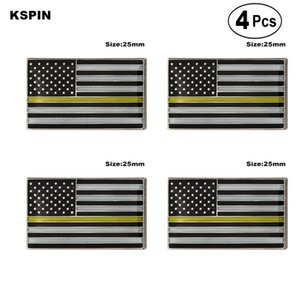 U. S. da Polícia Amarelo Broches de Lapela Pin Bandeira insígnia Broche de Pins, Emblemas 4PC