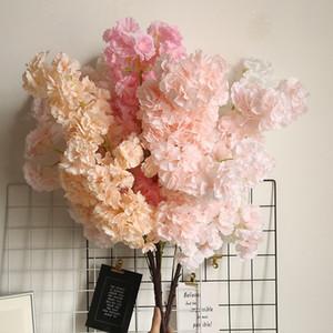 Искусственные вишни цветок персика моделирование поддельные Цветок сакуры цветок ветка для дома свадебные украшения партии
