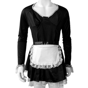 Mens Maid Dresses Sexy Lingerie Dress Sissy Maid Costume Girl Maid Dress Uniform for Role Play Party Clothes Male Gay Nightwearnderwear