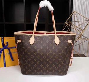2020 hot bag Designer Luxury Genuine Leather tote Handbag Brown MONOGRAM totes Printing Purse Womens Fashion Shoulder bags