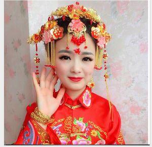 Kopfschmuck fransen haarnadel hochzeitskleid cheongsam zubehör schritt shake haarkrone