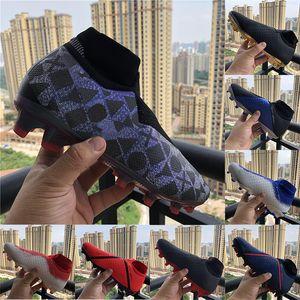 Best Quality Phantom VSN Elite DF FG Vision Cleats de football EA Sports Knit Waterproof Ghost Game Sur Hommes Mens Chaussette Chaussures de football High High