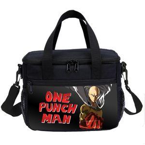 One Punch Man Kühltasche Thermal-Einkaufstasche Kühle Rucksack für Teens Mahlzeit Prep Fitness Picknick Jungen