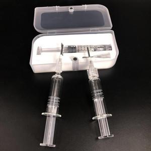 1ML vidrio Pyrex Jeringa Vaping Coil Winding herramienta útil con aguja para 92a3 AC1003 celda A9 carros Co2 gruesa de aceite de la caja plástica de embalaje