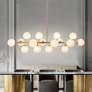 DNA-Glaskugel Molecular LED-Kronleuchter Moderne minimalistische Restaurant Lampe Nordic Kreative Schlafzimmer Wohnzimmer Study Beleuchtung