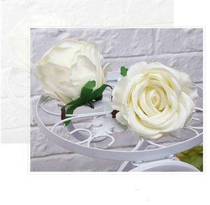 Лот 10 шт. 8-10 см искусственные розы цветочные головки свадьба помолвка поддельные цветы Главная сад украшения аксессуары Флорес