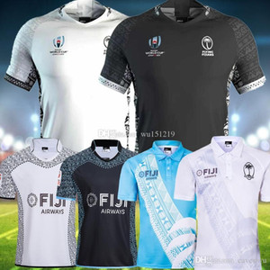 2019 Femininos Nacional 2020 Fiji Rugby World Cup Jersey Nova Zelândia Tudo preto Super Rugby Casa Fora camisa de Jersey