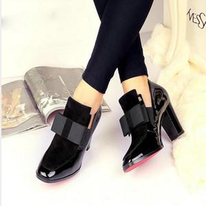 2018 جديد 100٪ أحمر أسفل وحيد الكعب العالي مضخات ساحة تو جلد طبيعي أحذية النساء السيدات الأسود مثير chaussure فام