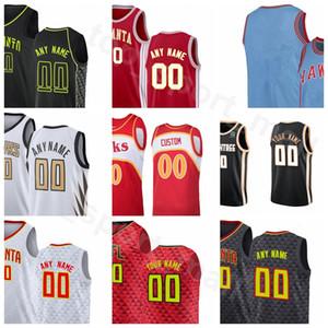 Ekran Baskı Basketbol Damian Jones Jersey Kevin Huerter Dewayne Dedmon Vince Carter Jeff Teague Treveon Graham Genç Adam Kadın Gençlik