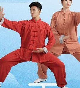 unisexe SpringAutumn de qualité supérieure COTTONLINEN arts martiaux tai chi Tang aile uniformes chun vêtements Taiji Wushu costumes