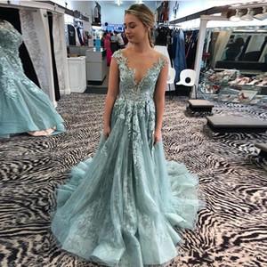 Elegant Prom Dresses Sheer Neck A Line Vestidos De Formal Party Gowns Illusion Evening Dresses vestidos de novia