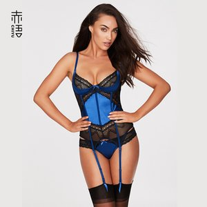 INS Red Language European and American New Steel Ring Chest-Lifting Artificial Silk Garter Sexy Jumpsuit Hollow Lace Sexy Underwear Sale