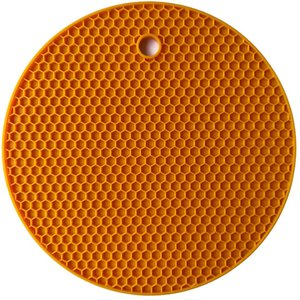 Extra Thick Silicone Trivet Mat Round Honeycomb Hot Pads Non-slip Silicone Insulation Mat Place Mat for Home