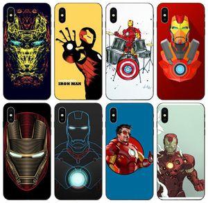 [TongTrade] Marvel Comics The Avengers Iron Man-Fall für iPhone X XS Max 11 Pro 8 7 6s 5s Galaxy J4 J6 J8 Honor Play 3 Motorola Moto G5 Fall
