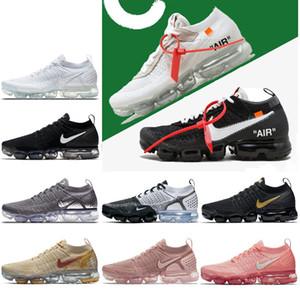 Gerçek kalite maxes Siyah Beyaz Erkek Kadınlar İçin 2019 Hava Buharı Örme Şok Ayakkabı 2.0 1.0 Spor Sneakers Size36-46 Koşu DOĞRU BE
