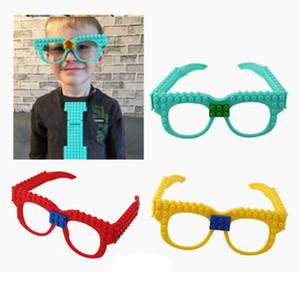 Gözlük Taban Plakası Çerçeve Arkadaş Polis Şehir DIY Oyuncak Gözlük Tuğlalar Kid Hediye yazım istihbarat oyuncak yapı taşları