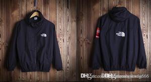 nuovo arrivato: primavera e autunno FACE moda cappotto in tinta unita con cappuccio, giacche impermeabili coppia giacca, kanye hip hop casual giacca a vento aape