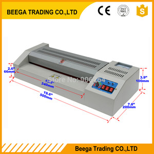 "Metal Frame 110 220V A4 A3 12.5"" 320mm Hot +Cold Thermal Laminating Machine Pouch Roll Laminator Office Equipment"