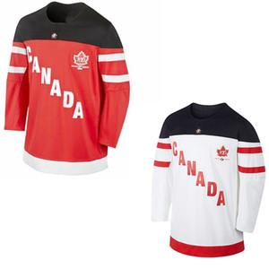 Custom # 87 Sidney Crosby # 88 Brent Burns # 16 Toews equipo de Canadá 100 aniversario hockey jersey cosido IIHF cualquier nombre de su número personalizado