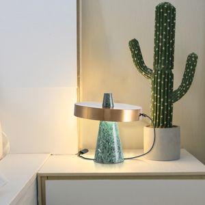 Vintage LED Iron Marble Pedestal Small Table Lamp for Bedroom Living Room Personal Office Desk Decorative Lighting 220V 110V
