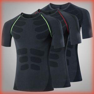 Зазор Логотип Пользовательского Compression рубашки тренировка Спорт Бег футболка с короткой Беговые тенниской Мужчина Фитнес-Джерси Rashgard тренажерных рубашек
