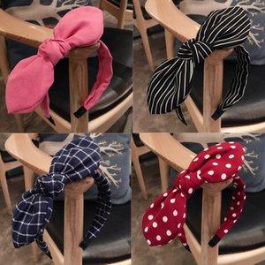 Moda Lady Kumaş Büyük Kurdele Saç Hoop Kız Bow Baş bandı Süsler hairbands İçin Kadınlar Şapkalar Saç Aksesuarları genişledi