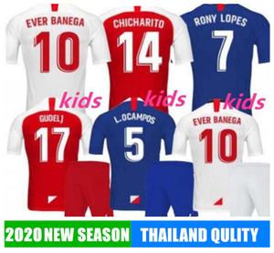 19 20 Chicharito J.NAVAS Soccer Jersey 2019 De Jong Ever Banega Marcos Lopes Dabbur L.OCAMPOS homem crianças KITS camisas de futebol