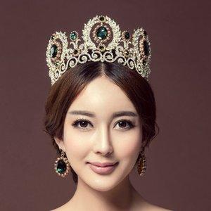 Ashion Saç Takı KMVEXO Lüks Kraliyet Kraliçe Kral Inci Düğün Gelin Tiaras Taçlar Saç Takı Kristal Diadem Balo Pageant ...