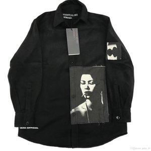 18FW Long Shirt Real Rich Bibasic ERD Wool Printing Patch High Street Shirt Fashion Sleeves HFWPWY124