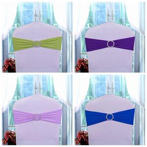 Chair matrimonio compleanno fasce della sedia della copertura del telaio elastico Papillon festa di nozze fibbia fusciacche Bowknot decorazioni telai della sedia aC BH0682