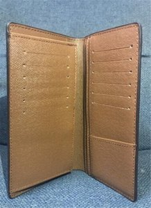 Nuevo bolso redondo de embrague de marrón Viajes de viaje de cuero negro Brazza Case PU monedero No pasaporte Zipper Zippy Damier Ebene Holder Billet Box VSDGM
