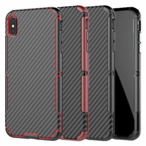 Para el estuche del iPhone XR Luxury Really Carbon Fiber Cubierta del teléfono para iPhone XS Max