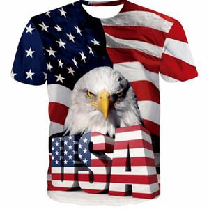 Nueva camiseta de la bandera de EE. UU. Hombres / Mujeres Sexy 3d camiseta estampada a rayas de la bandera americana Hombres camiseta Summer Tops Tees Plus 5XL