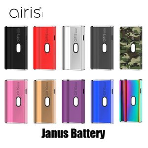 100% originale Airis Janus 2in1 650mAh VV Vape Box Mod per 510 Thick Cartridge Olio e compatibile Pod