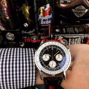 3 Farbe Männer Qualität Uhr Avenger Ozean 1884 Chronometer mit Chronograph 164ZL40-B260 Erste Schicht Rindlederbügel Mens Armbanduhren