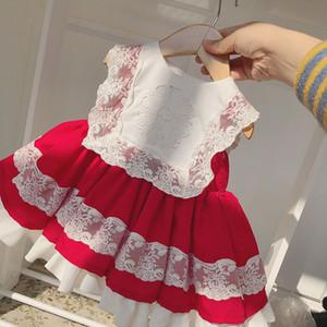 Испания Стиль Детских платьев Новорожденных девочки Тута платье красного Infant принцесса кружево платье партия костюм 2020 Детская одежда S04