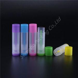 100pcs 5G Lip Balm tubos vazios Plástico Lip Balm batom Tubo Chapstick Containers Batom Contentores de Artesanato DIY 5 Cor