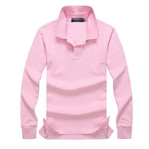 2019 Новые горячие продажи Рубашки Поло Мужчины Большой маленький конь Твердые Длинные Рукава Лето Повседневная Поло Мужская Тонкая Поло Повседневная Рубашка