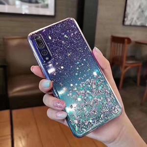 Glitter époxy transparent bling étoiles TPU Case souple pour Huawei P30 P20 Lite NOVA 3 4 5 5T 3i 5i Honor 20 8X 9X Jouer Y9 2019 Maté 30 Pro