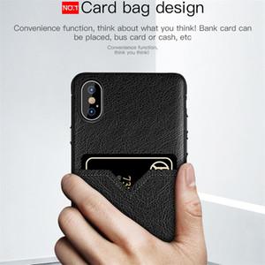 Caja del teléfono de lujo del diseñador para iPhone 11 Pro X max 6 7 8 teléfono celular Samsung S10e más la caja de la tarjeta de crédito ranuras bolsa