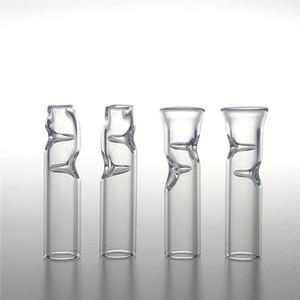 Mini-Glas-Filter-Tipps für trockene Kräuter Tabak RAW Rolling Papers mit Tabak Zigarettenspitze dicke Pyrex bunte Glaspfeifen