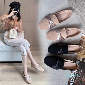 women casual shoe Ladies Shoes Ballet Flats Women Flat Shoes Woman Ballerinas Black Large Size Casual Sapato Womens Loafes l15
