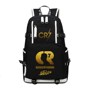 رونالدو ميسي قماش ظهره الرجال النساء السفر قدرة كبيرة حقيبة CR7 الظهر بوي فتاة حقيبة مدرسية للطلاب عارضة حقيبة