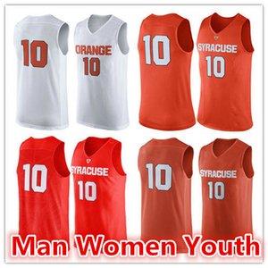 2020 özelleştirme NCAA # herhangi bir ad numara boyutu nakış 10 Syracuse Orange basketbol formaları adam kadın gençlik Koleji forması S-5XL