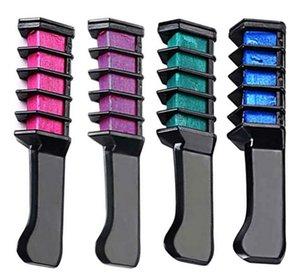 Professional Hair Dye Comb descartável Salon Uso Pessoal de cabelo temporária Cor Chalk cabelo Ferramenta de tingimento