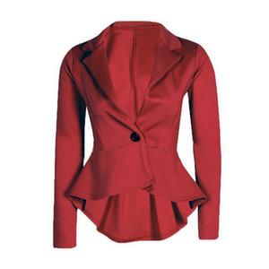 2019 New Office Lady Blazers Fashion Single Button Notched Blazer Formal Solid Women Vadim Blazer Feminino